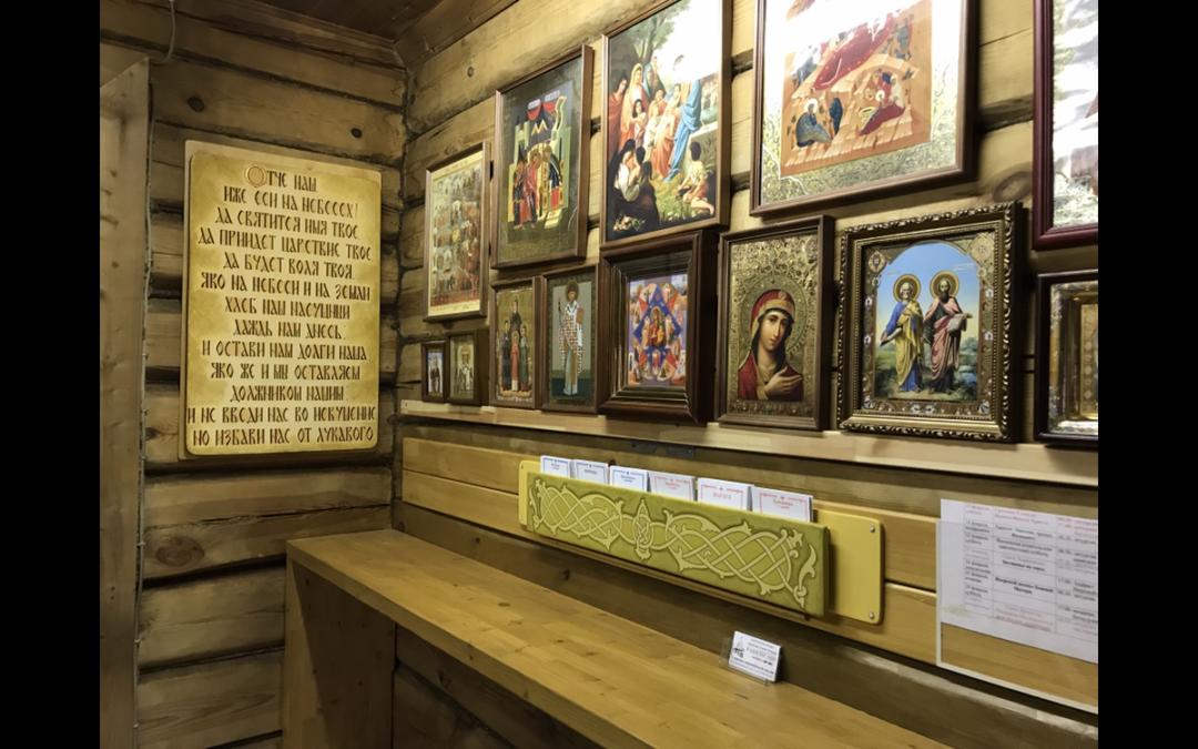 В нашем храме появляются новые декоративные элементы сделанные своими руками.